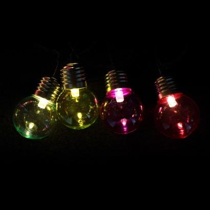 LED Multi Coloured Retro Light Bulb String Lights