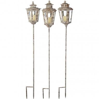 Garden lantern poles