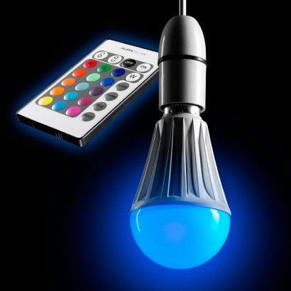 how to change the color of a light bulb