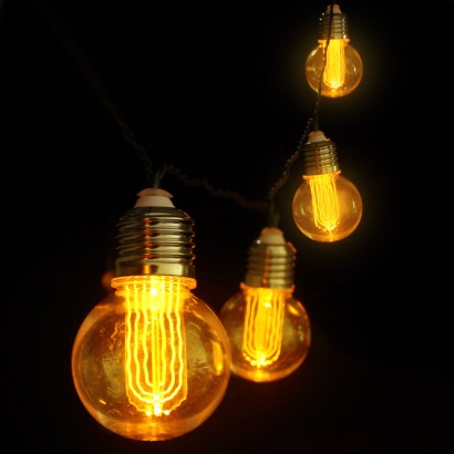 Globe String Lights Battery Operated Leds : Retro Edison Bulb String Lights