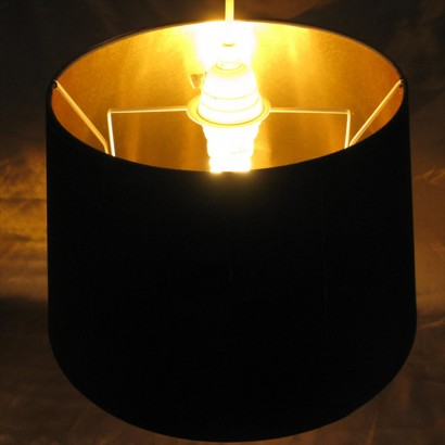 Black gold lamp shade black and gold is eternally stylish and this simple yet eye catching black gold lamp shade will inject a little glamour into any room read more aloadofball Image collections