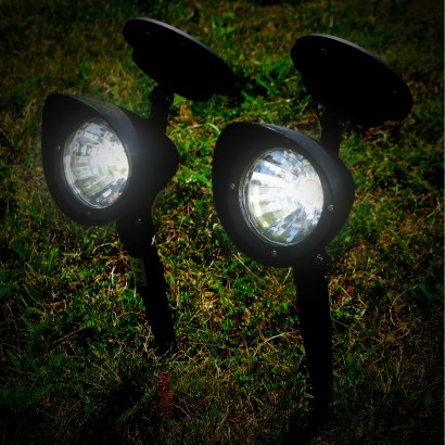 pathways in your garden with adjustable solar spotlights read more