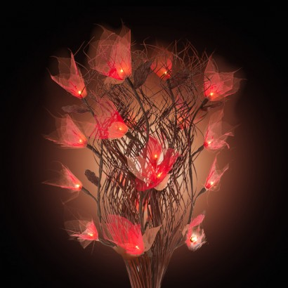Bodhi Leaf Rose Lamp