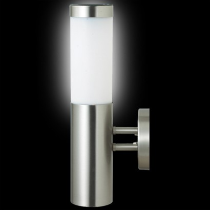 Solar Security Wall Lights : Canterbury Stainless Steel Solar Wall Light