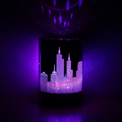 Color Change City Skyline Table Lamp