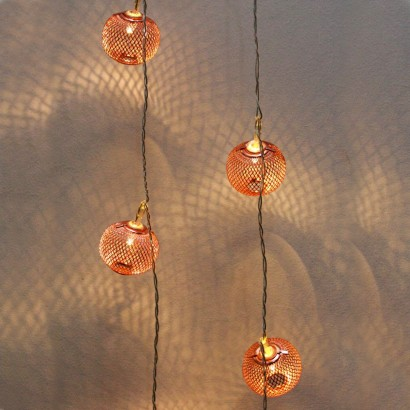 Anthropologie String Lights Copper : Copper Lantern String Lights
