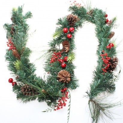 Light Up Decorated Christmas Garland