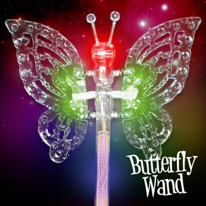 Wholesale flashing butterfly wands for Led wands wholesale