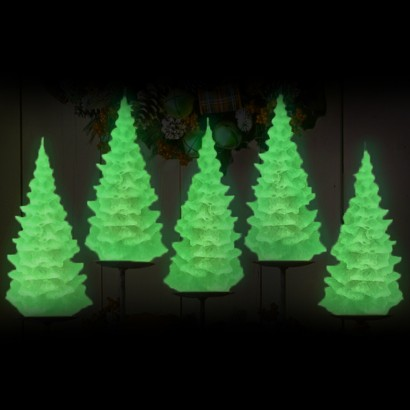 Glow in the Dark Christmas Tree Candles