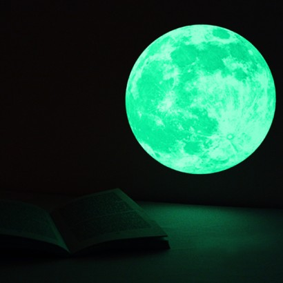 clair de lune glow in the dark medium moon wall sticker pack glow in the dark moon and stars wall sticker decal ebay