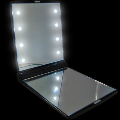 light up compact mirror. Black Bedroom Furniture Sets. Home Design Ideas