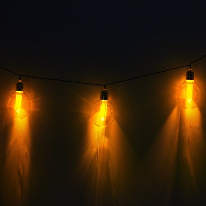 Retro Large Bulb Warm White String Lights
