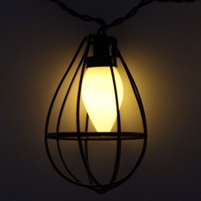 Mini Industrial Bulb Cage String Lights