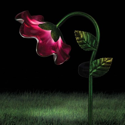 Solar Powered Mini Bell Flower Garden Stake Light