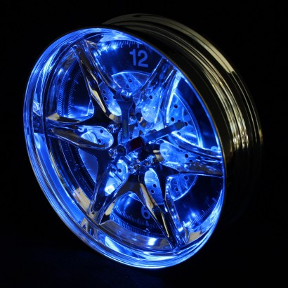 Neon Alloy Wheel Rim Clock