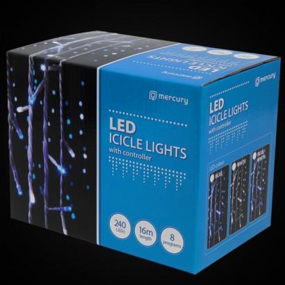 240 Blue LED Icicle Lights