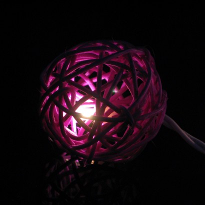 Purple Rattan Stringlights - Indoor String Lights - String Lights - Home Lighting