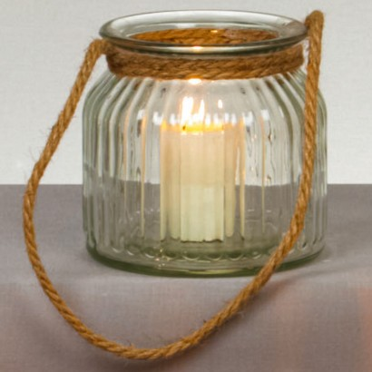 rope handle candle holder