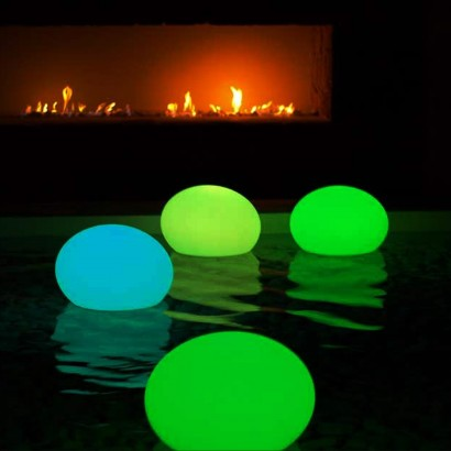 Rechargeable colour change flatball lamp for Mood light designs
