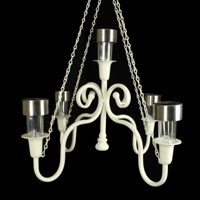 solar powered garden chandelier, Lighting ideas