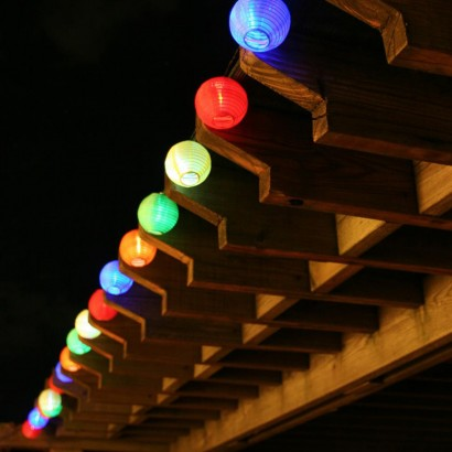 Hang Solar Chinese Lantern String Lights In Your Garden For A Splash Of  Colour And Instant Uplifting Atmosphere. Read More.