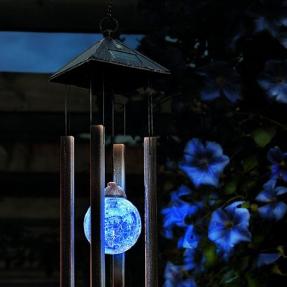 Solar Powered Colour Change Windchime