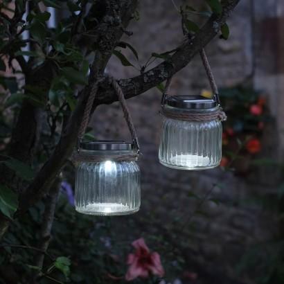 Glass garden lanterns