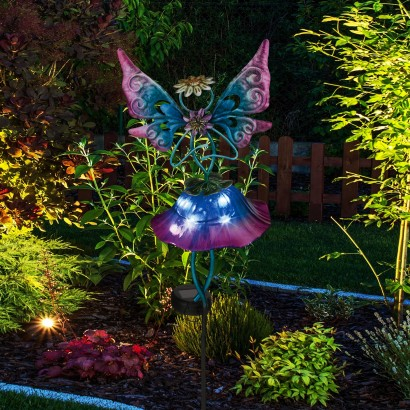Night Or Day These Sweet Flower Fairy Stake Lights Add A Touch Of Magic To  Your Garden Borders And Patio. Read More.