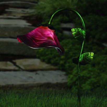 Solar Powered Bell Flower Garden Stake Lights