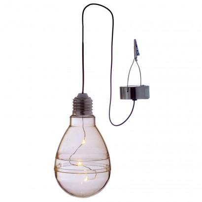 Solar Hanging Light Bulb Clear
