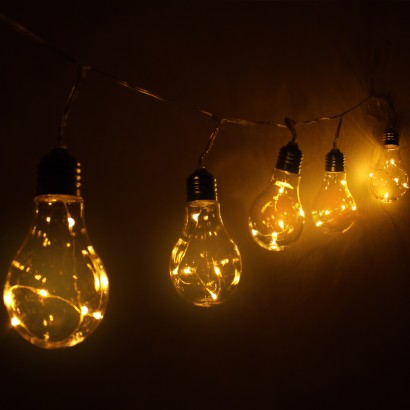 Light Bulb String Lights Nz : Solar Light Bulb Warm White Fairy Lights