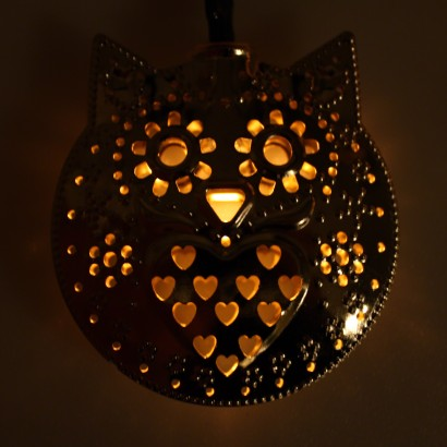 Solar Metal String Lights : Solar Owl Filigree String Lights