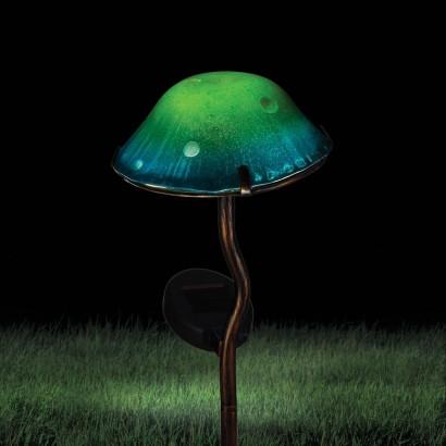 Solar Powered Toadstool Garden Stake Light