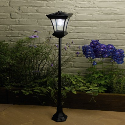 kingston solar powered garden lamp post. Black Bedroom Furniture Sets. Home Design Ideas