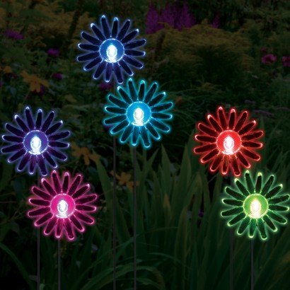 Colour Change Solar Sunflower Lights