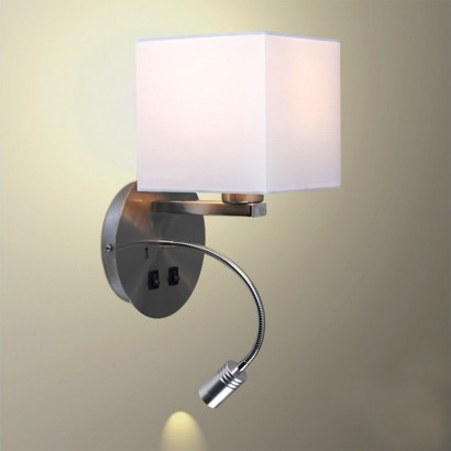 Wall Lamp With Usb Charger : Multi Function Modern Wall Light