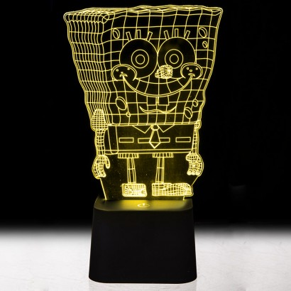 Spongebob squarepants 3d illusion mood light for Mood light designs