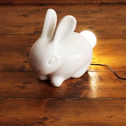 A quirky little table lamp, this ceramic Bunny Lamp has an LED bulb instead  of a fluffy white tail. Perfect for kids rooms or as an unusual feature lamp  ... - Bunny Lamp
