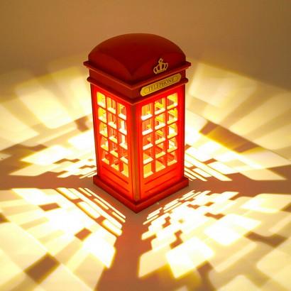 Retro Telephone Box Light