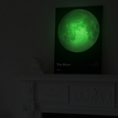 Glow In The Dark Moon Amp Jupiter Posters