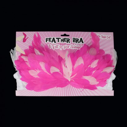 Hot Pink Neon Feather Bra