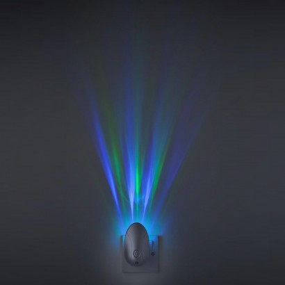 Colour projector sensor night light plug in a simple but very effective night light for halls landings and bedrooms the wall washer plugs into your standard socket and projects a colourful light mozeypictures Gallery