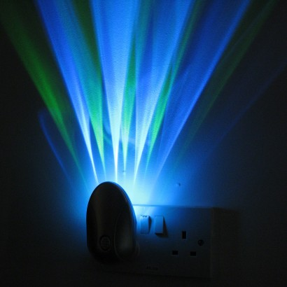 Colour Projector Sensor Night Light Plug In