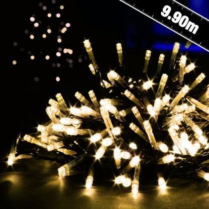 Image of 100 B/O Outdoor Timer LED String Lights