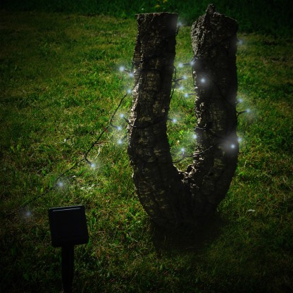 Image of 100 White LED Solar Stringlights