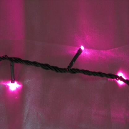 Pink Indoor String Lights : 200 Pink LED Chaser String Lights