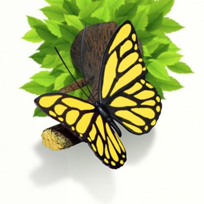3D FX Butterfly Deco Wall Light