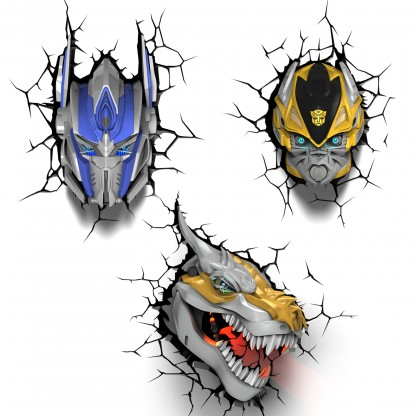 3d Fx Transformers Wall Lights