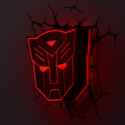 3d Fx Transformers Shields Wall Lights