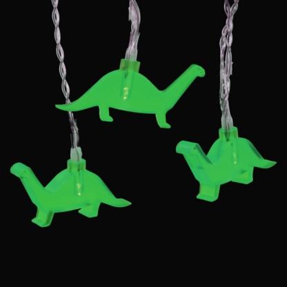 String Lights Green Dinosaur : Dinosaur Battery String Lights